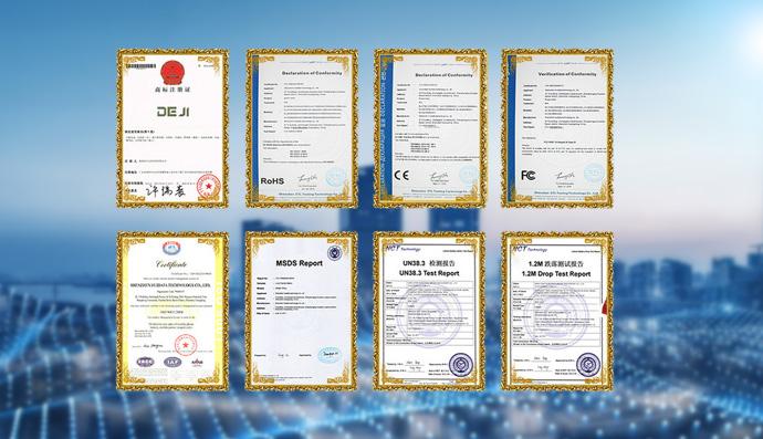 Deji Battery Certificate