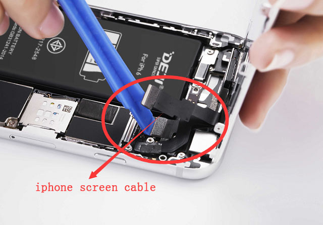 iphone battery screen cable