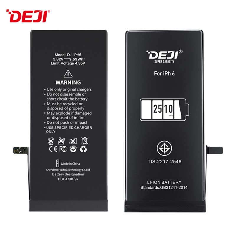 Wholesale 2510mah Iphone 6 High Capacity OEM Phone Battery